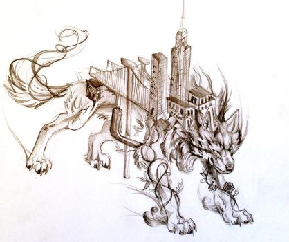 City Wolf by Lucky978