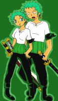 Zoro and Zoro Gender Bender by Ally-Nad