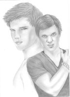 Taylor Lautner pencil drawing by charissa1996