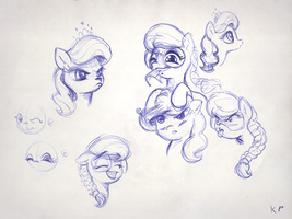 Sugarlump Sketches 2 by KP-ShadowSquirrel