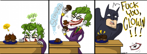 Joker vs Batman by EvilCreampuff