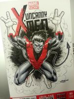 xmens nightcrawler sketch cover by Sajad126