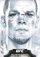 Nate Diaz Topps sketch card by therealbradu