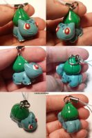 Bulbasaur Charm by ChibiSilverWings