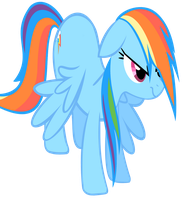 Wet Rainbow Dash-bright by IamthegreatLyra