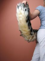 Speckled wolf Tail 24 in. by Furtastictails
