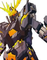 RX 0 Gundam Unicorn Banshee Color by Greiga