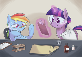 Lab Partners by yeendip