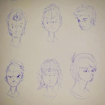 Hair Reference Sheet [04] by Beast7Gamer