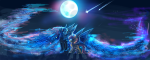 MLP AT: student of the night by AquaGalaxy