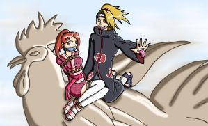 Deidara's kidnapping job by Wing-Saber
