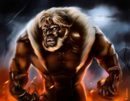 feral rage of sabretooth by aerlixir