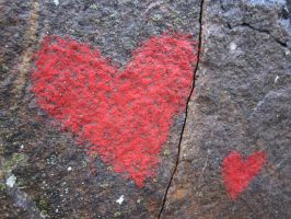 Environmental art - Hearts of Stone (detail) by NurseRozetta95