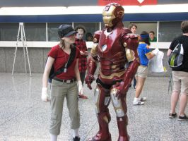 Scout + Iron Man Montreal Comic Con 2013 by Spinosaur123