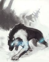 TP Wolf Link concept art by Bittergeuse