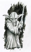 Yoda inked by MikimusPrime