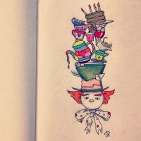 Mad Hatter Doodle by shawd