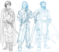 Corwin, Benedict, and Eric -- WIP by CrimsonGear
