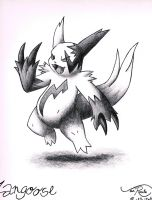 Zangoose by johnrenelle