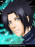 Zack Fair Portrait by Kixuri-Chan