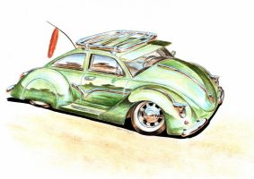 VW Beetle - The Green Piece by Medvezh