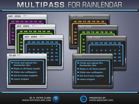 Multipass Rainlendar by rpeterclark