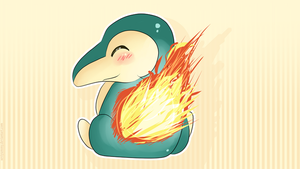 Cyndaquil Wallpaper by SeviYummy