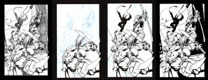 TMNT Step by Step Inks by MichaelWKellarINKS
