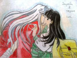 Inuyasha and Kagome by EverDream33