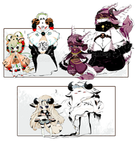 [CLOSED] ADOPT AUCTION 169 - Shadowmonsters by Piffi-adoptables