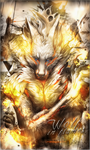 [Signature] Wolf in Flames by MadaraBrek