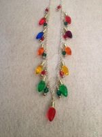 Christmas lights necklace by AestheticSaturn
