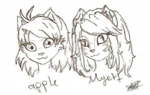 apple and myett ref by Ira-WratH