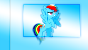Rainbow Dash Wallpaper by Elalition