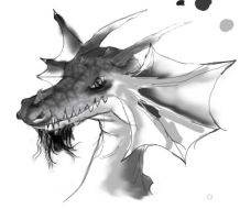 Dragon head w.i.p by smilie5768