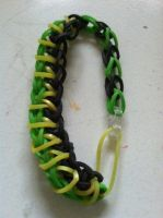 Another Loki Themed loom band Bracelet by ImperatrixTempore