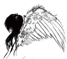 angel thingy drawie by ProsaicProtrusion