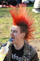 A punk having a drink by Cerask