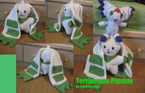 Terriermon Plushie by SethImmortal