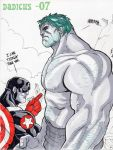 Cap'N and Hulk by dadicus