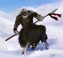 musk ox by DragonAsis