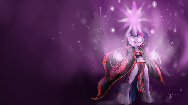 Twilight Mage Wallpaper by atryl