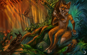 The Flame of forest by FlashW