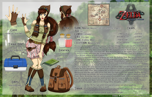 Zelda OC SHEET: Meena by Ya-e