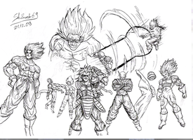 dragon ball zeto sketches by Sk8rock69