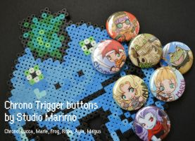 Chrono Trigger buttons by studiomarimo