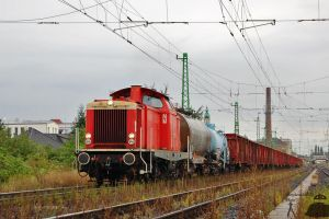 DB212 with goods train in Gyor by morpheus880223