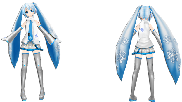 PDE Snow Miku 2011 by XDONOTENTERX