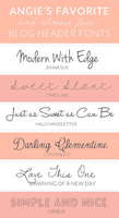 Favorite and Almost Free Blog Header Fonts by cu88