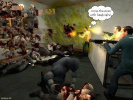 L4D Horde Meets Half-Life 2 by quillaina